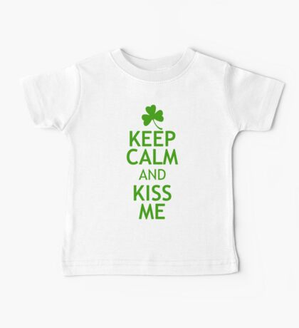 KEEP CALM AND KISS ME in green Kids Clothes