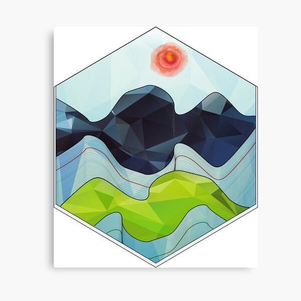 The Poly Landscape 2.0 Canvas Print
