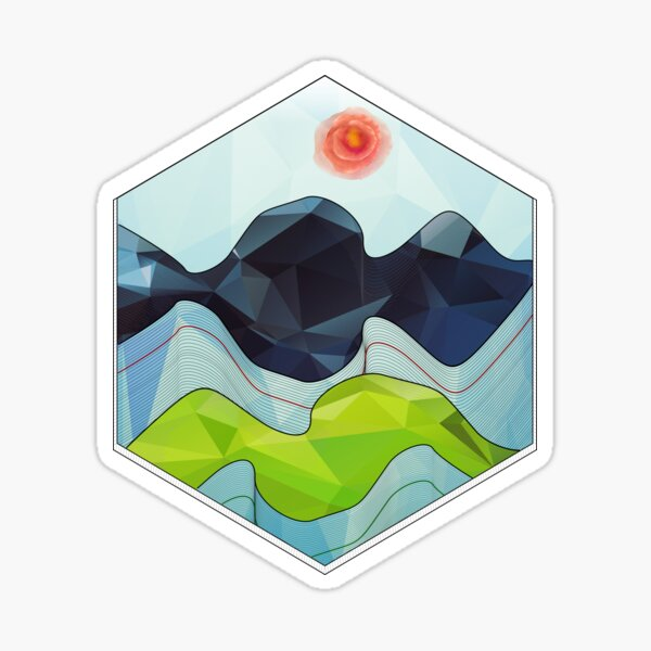 The Poly Landscape 2.0 Sticker