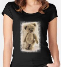 teddy bear retro Women's Fitted Scoop T-Shirt
