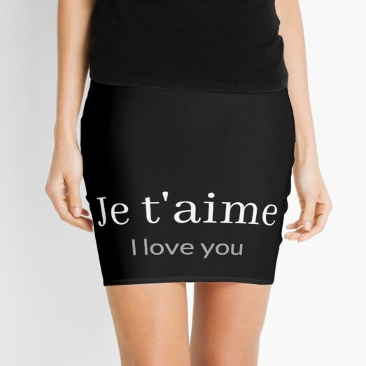 Je t'aime - I love you Mini Skirt
