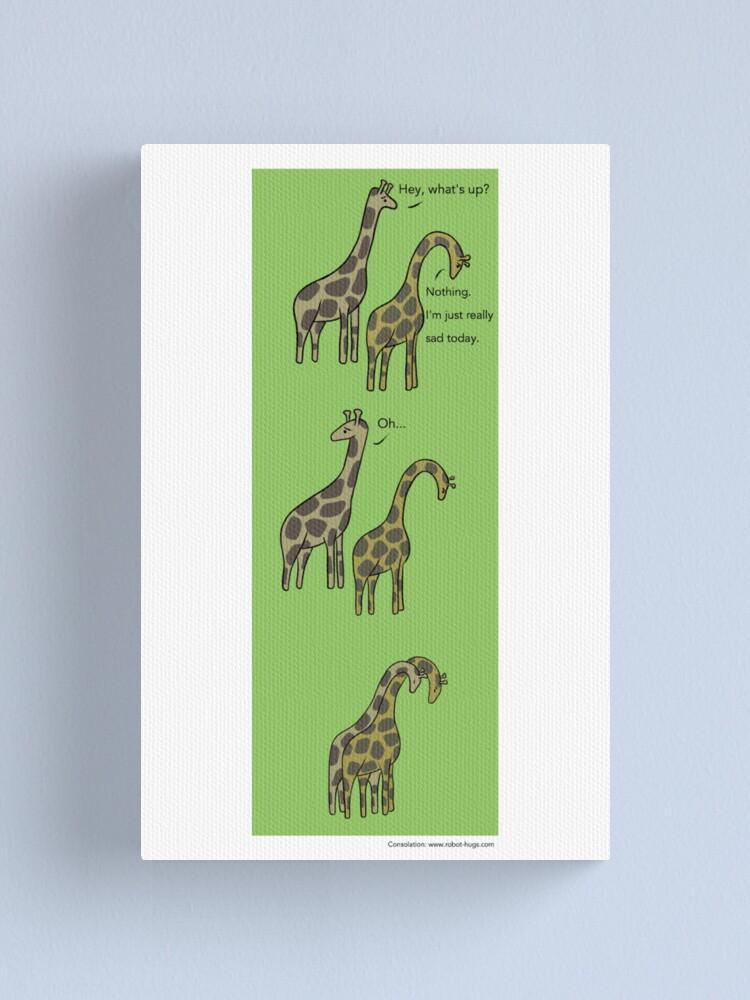 Alternate view of Consolation: Giraffes Canvas Print