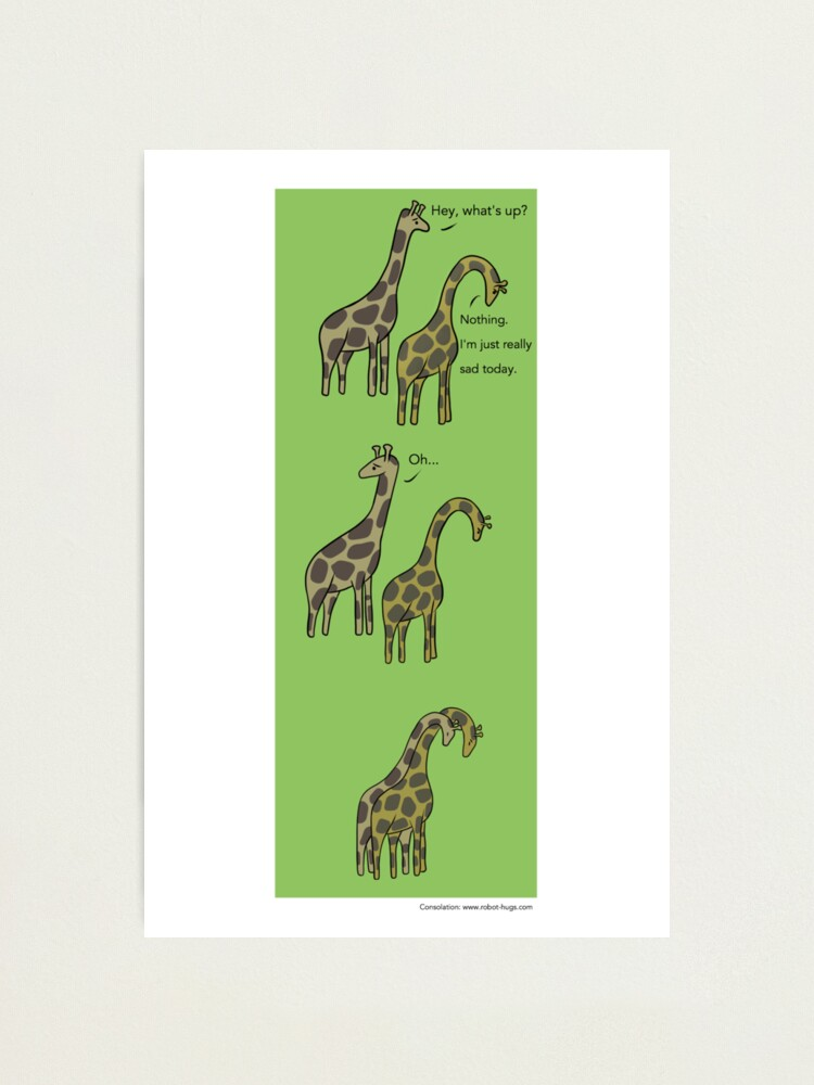 Alternate view of Consolation: Giraffes Photographic Print