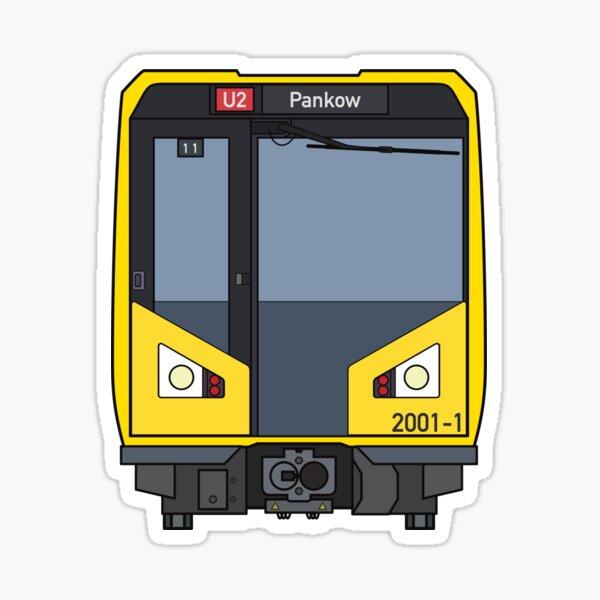 Berlin Metro Train Sticker