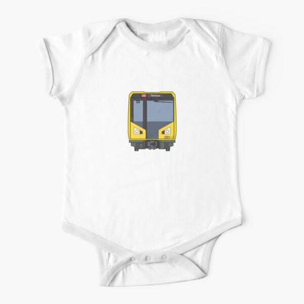 Berlin Metro Train Short Sleeve Baby One-Piece