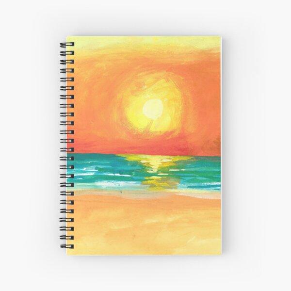 Sunset at Ocean Shores Spiral Notebook
