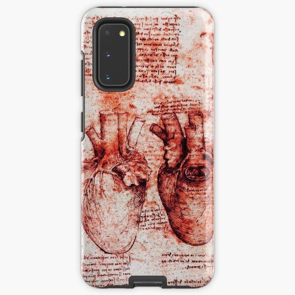 Heart And Its Blood Vessels. Leonardo Da Vinci, Anatomy Drawings Red Samsung Galaxy Tough Case