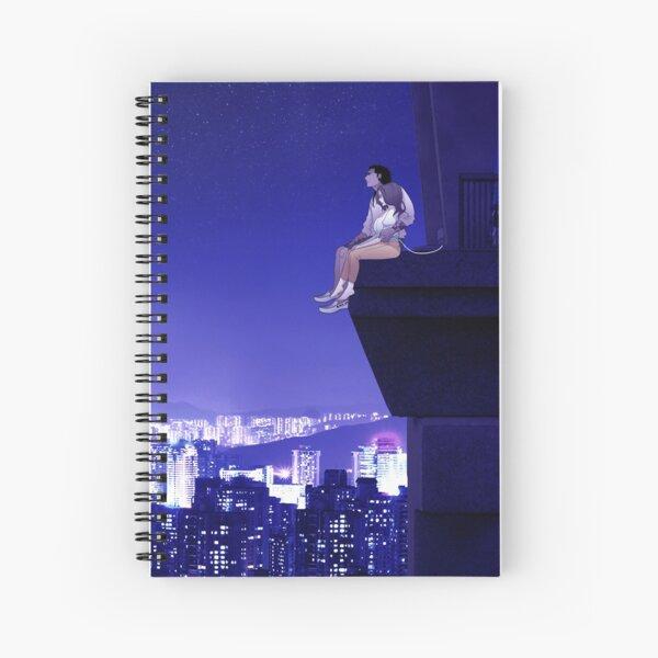 Overview- Love above city lights Spiral Notebook