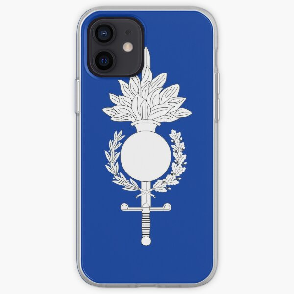 Drapeau de la Force de gendarmerie européenne Coque souple iPhone