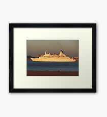 DISCOVERY CRUISE LINER Framed Print