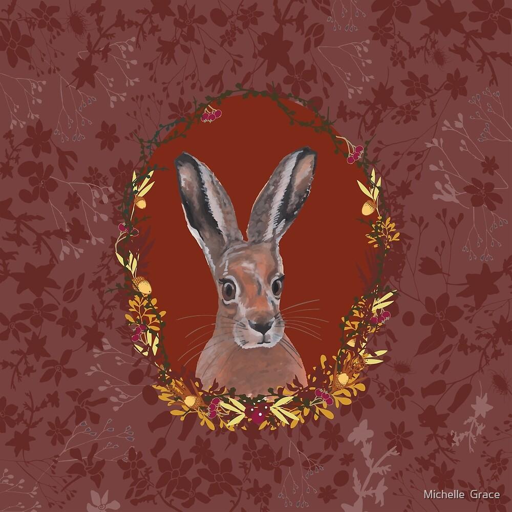 Hare Portrait by Michelle  Grace