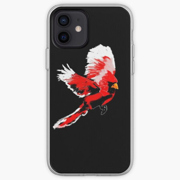 Painted Cardinal Design iPhone Soft Case