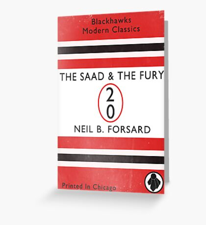 The Saad & The Fury Book Cover Greeting Card