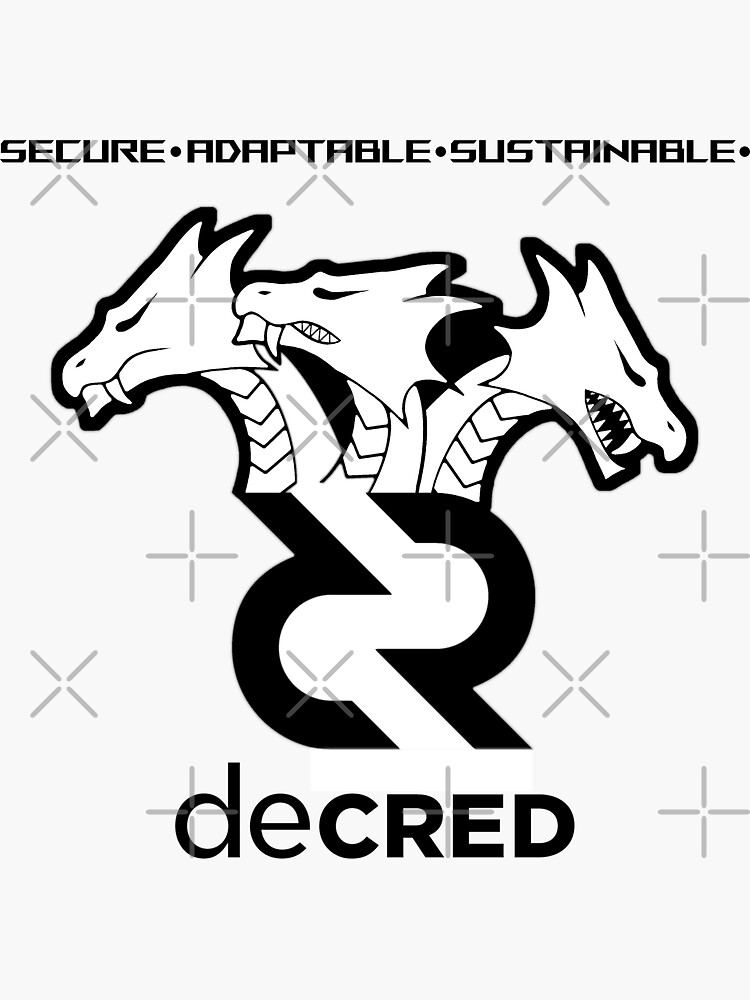 (sticker) Decred hydra ™ v3 'Design timestamped by https://timestamp.decred.org/' by OfficialCryptos
