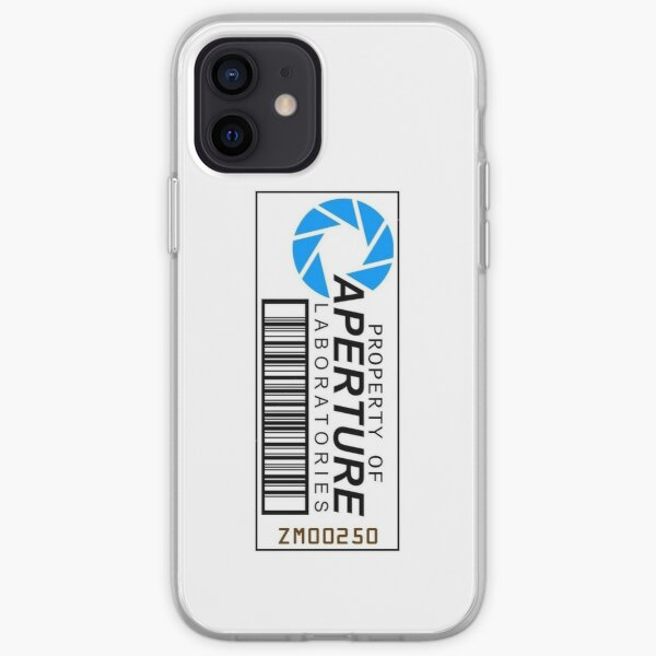 Aperture science barcode iPhone Soft Case