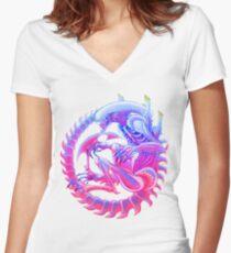 Xenomorph Women's Fitted V-Neck T-Shirt