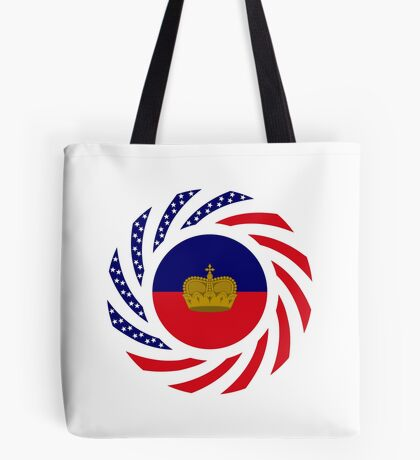 Liechtensteinian American Multinational Patriot Flag Series Tote Bag