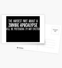 The Hardest Part About A Zombie Apocalypse Postcards