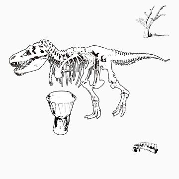 T-Rex Djembe by tiefholz