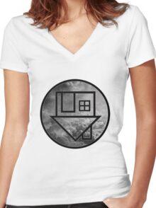 The Neighbourhood Clouds Women's Fitted V-Neck T-Shirt