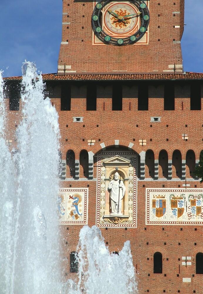 Fountain and Castle by Valentino Visentini