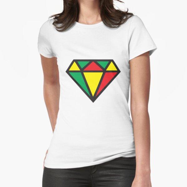 Irie Rasta Diamond Tailliertes T-Shirt