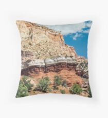 Colorful Cliffs at Capitol Reef Throw Pillow