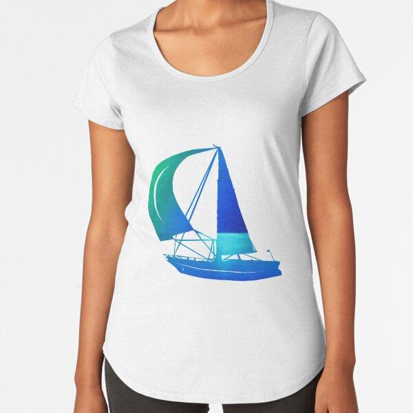 Ocean and Waterdrops / Ölbild Premium Rundhals-Shirt