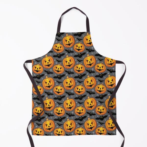 Halloween Pumpkin Apron Vintage Apron 40s Apron Pumpkin Apron Jack O Lantern Apron