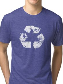 Recycle (Distressed - White) Tri-blend T-Shirt
