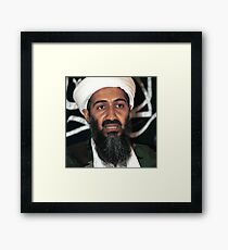osama bun laden edgy shirt Framed Print