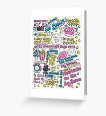 Heartache On the Big Screen Greeting Card