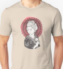 Japanese flag and Geisha Unisex T-Shirt