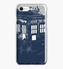 splatter tardis iPhone Case/Skin