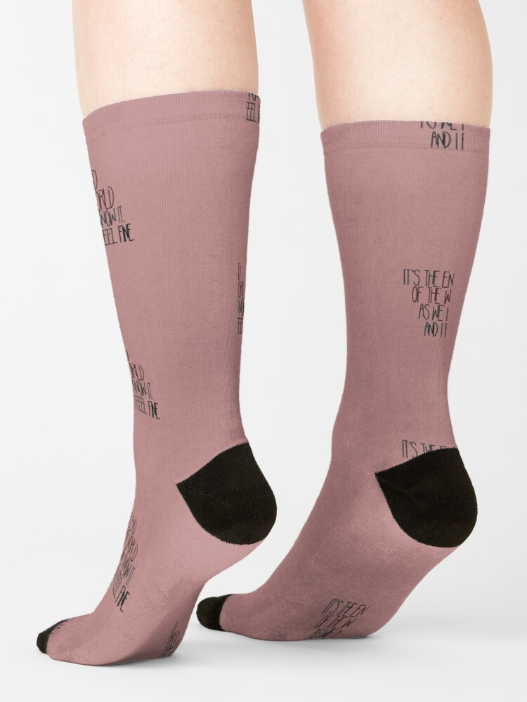 Alternate view of End Of The World As We Know It - R.E.M. Design Socks