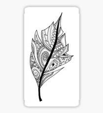 Zentangle Feather Balck and White Design Sticker