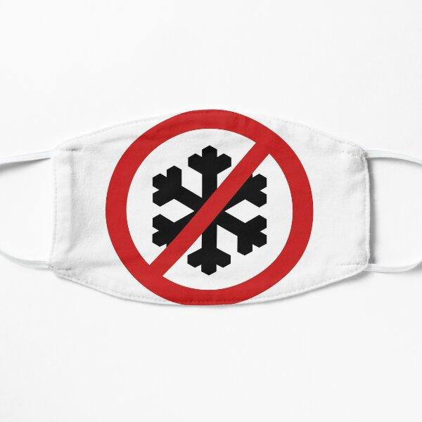 British Road Sign – No Snowflakes Flat Mask