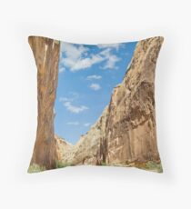 Capitol Gorge in Capitol Reef NP Throw Pillow
