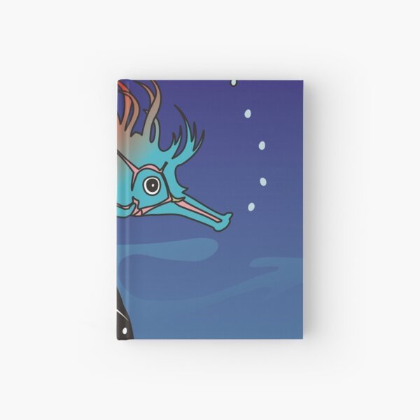 Seahorse who imagined it needs to wear a tailcoat Hardcover Journal