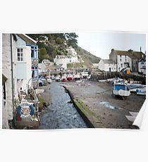 Polperro fishing village, Cornwall Poster
