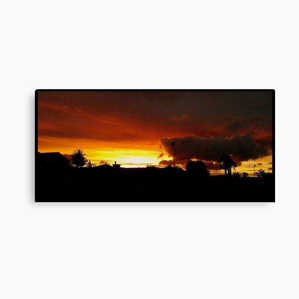 A Special Sunset Canvas Print