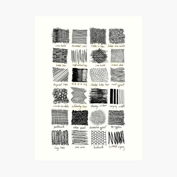 Annotated Mark Making Art Print