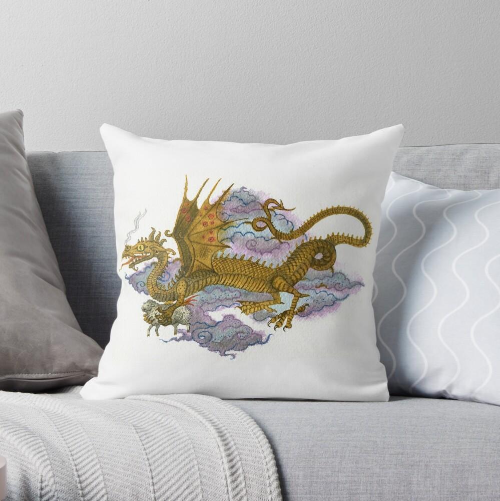 Flying dragon Throw Pillow