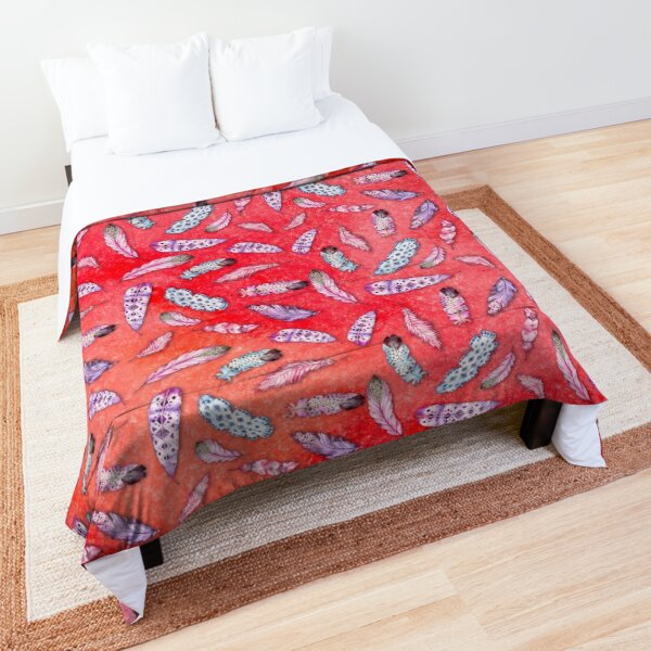 Feathered Watercolor 11 Bedroom Textile Comforter