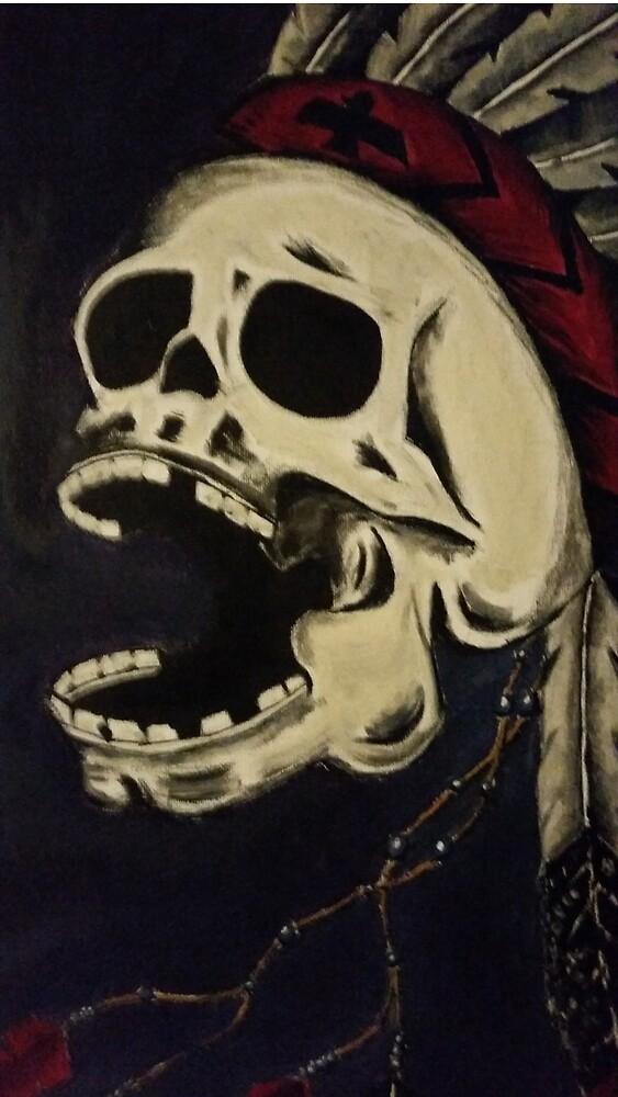 Indian skull by Kaylincarlos1