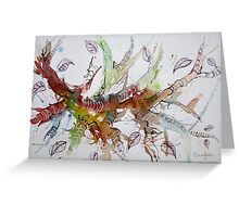 Tree Branches - Abstract Greeting Card