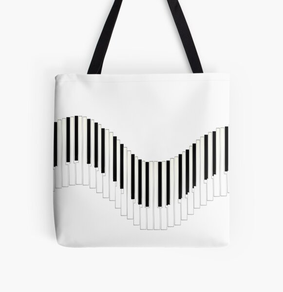 Piano Song2 All Over Print Tote Bag