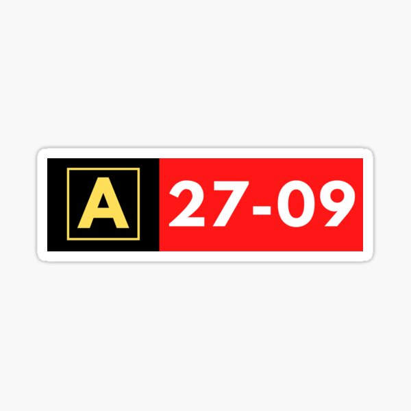 Taxiway Runway Sign Sticker