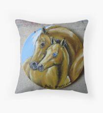 Golden Beauties Throw Pillow
