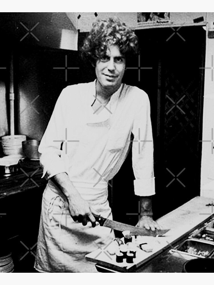 young Anthony Bourdain preparing sushi rolls  by furioso